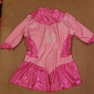 Pink Spiderman costume